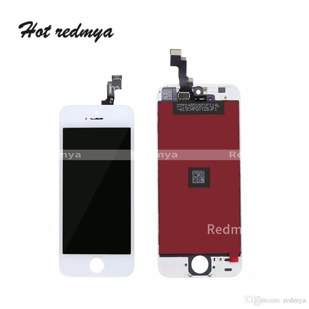 For iphone 5 5S LCD Touch Display Screen Digitizer Complete Screen Front Frame Assembly Replace Parts