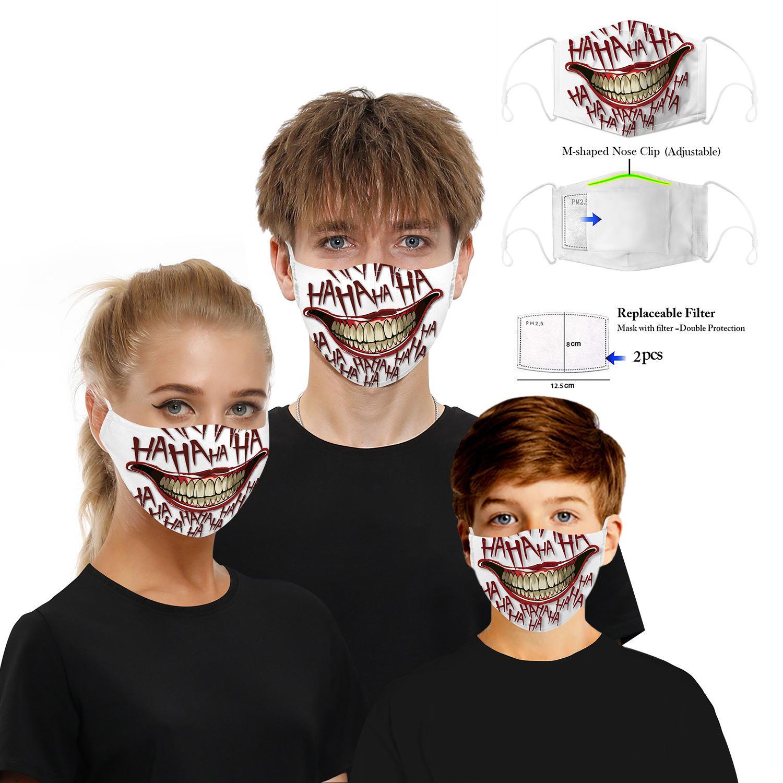 الجملة أقنعة أقنعة واقية الطباعة الرقمية مع تصفية رقاقة الغبار PM2.5 الضباب الدخاني الكبار قناع الأطفال قناع قناع الوجه كيد 3D