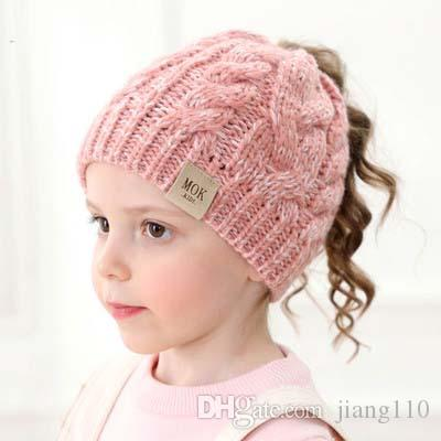 INS 2019 Nuevo gorro de invierno para niños Crochet Designer simple baby girls gorro cálido Designer kids knitted hats