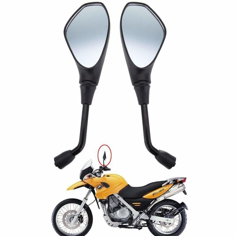 Evrensel Motosiklet Dikiz 10mm Yan Dikiz Bmw F650GS F800R Aprilia Ducati Suzuki için
