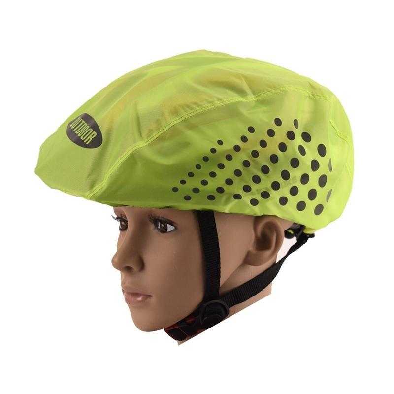Riflettente casco della bici di copertura ad alta visibilità impermeabile casco della bicicletta della copertura della pioggia Mtb strada della bicicletta giro Indumento da ciclismo Cappelli Maschere