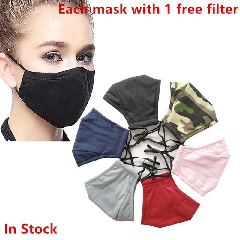 La Mascarilla anti-polvo ajustable Earloop reutilizable boca de algodón Máscaras Máscaras suave y transpirable de protección del polvo anti 50pcs