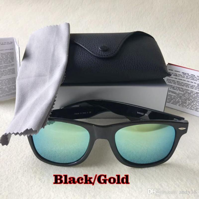 Mode Sonnenbrillen Männer Frauen Sun-Glas-Marken Designer Justin Gafas de sol Coole Design Männliche Brillen mit Fällen Sunglass 18 Farben