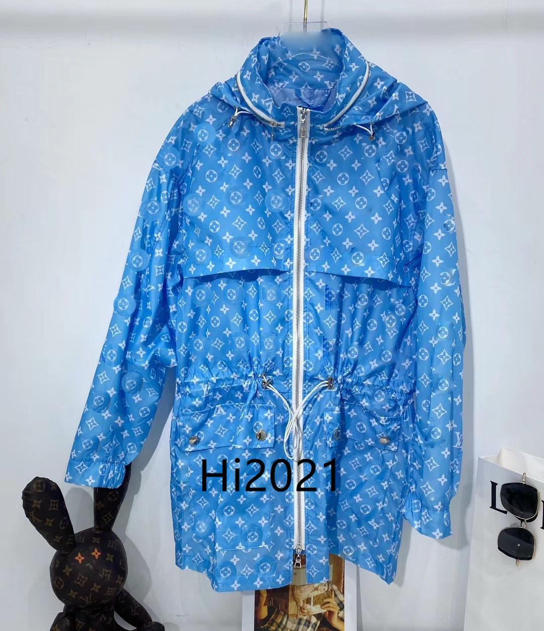하이 엔드 여성 여자 캐주얼 긴 스포츠 용 재킷의 일종 코트 2020 패션 고급스러운 디자인 느슨한 지퍼 탑 블라우스 모든 것을 모노그램 프린트 후드 재킷