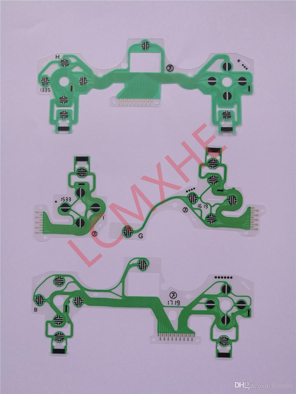 JDS-001/011/030/040/055 Botões Fita Placa de Circuito flex para PS4 Dualshock 4 Pro Slim Controlador PCB Condutora Filme Teclado Cabo