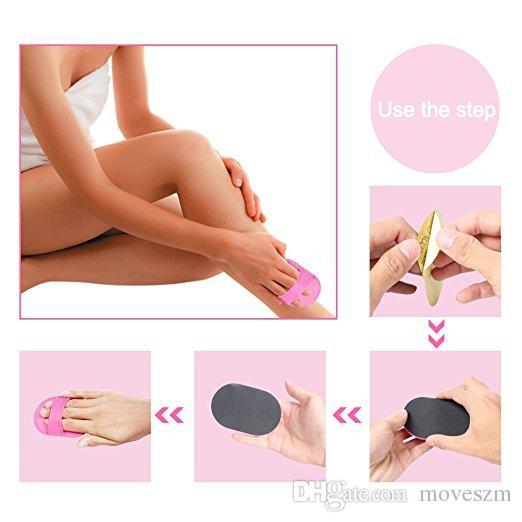 Hot Women Face Lip Leg Arm Easy Smooth Pads Useful Adhensive Hair