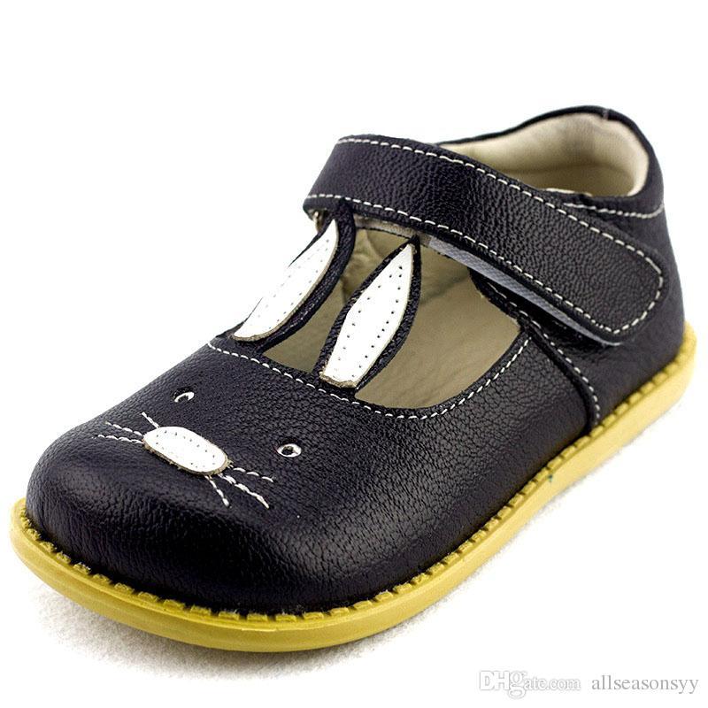 Cuir véritable qualité enfants chaussures filles chaussures princesse le lapin filles princesse enfants doux cuir appartements