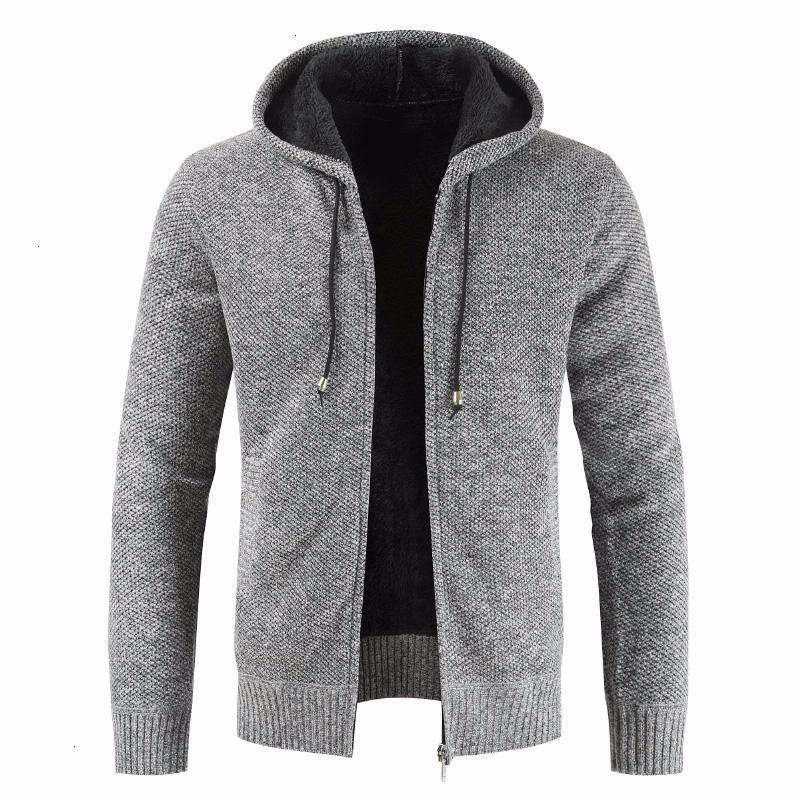 Uomini New Autunno marca Spesso casual maglione di cotone cappello cardigan di inverno degli uomini Moda Maglieria Soprabiti caldo maglione dei ponticelli MenMX190926 Coat