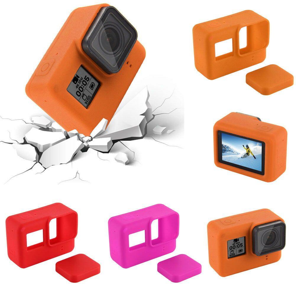 Moderna anti-polvo Covers GoPro HERO 7 Negro suave piel de silicona vivienda cubierta protectora del caso de la cámara Caja protectora cubierta de goma