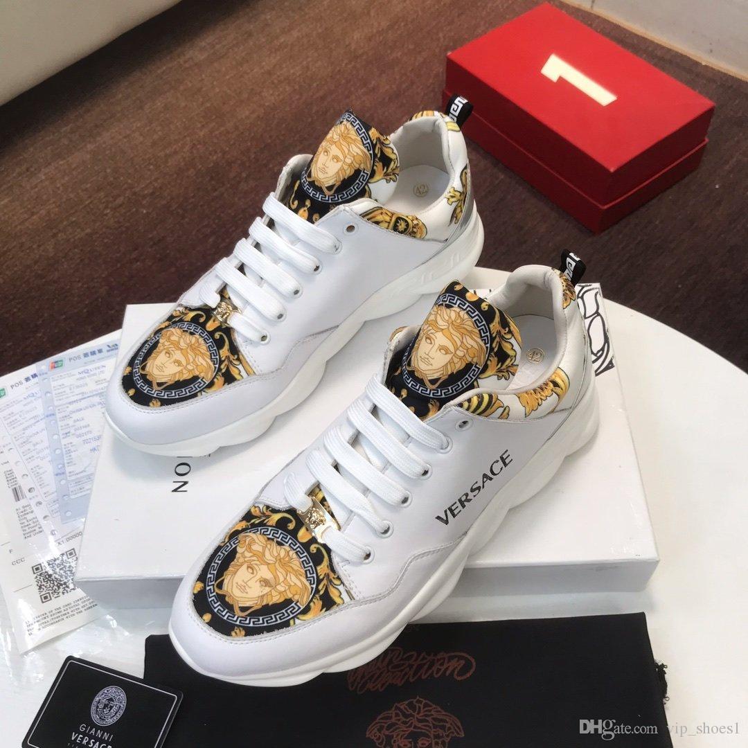 2020R neue Luxus Design Herrenmode Turnschuhe, Wildbreathable Männer Freizeitschuhe, Herren Partei-Schuhe Größe: 38-45