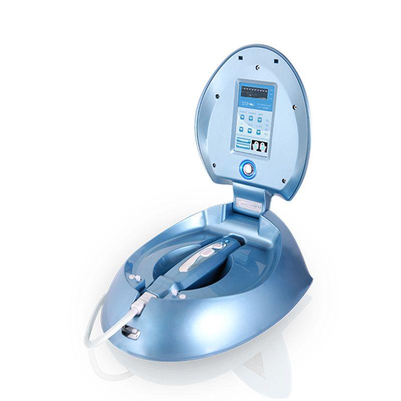 HIFU portátil microcorrente frente da máquina de elevação 3 cartuchos pele aperto remoção do enrugamento anti- Máquina de Envelhecimento para uso doméstico
