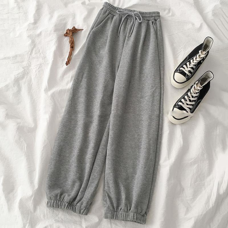Primavera Mujeres pantalón de cintura alta Deporte de gimnasia de estiramiento pantalones casuales pantalones lazo de las señoras largas 2020 de la venta caliente Joggers