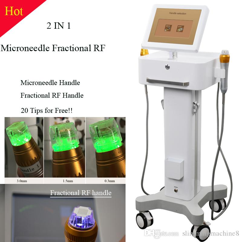 DHL free shipping Thermage face machine fractional rf skin rejuvenation Portable thermage Beauty Device Two handles with 4 tips