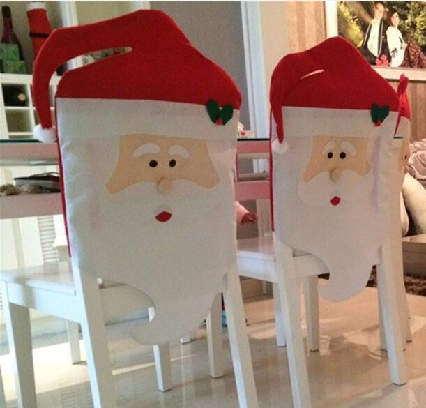 Babbo Natale Chair Covers non tessuto Cena copertura della sedia per natale di Natale delle decorazioni del partito della casa vacanze: Festival di forniture ELCD009