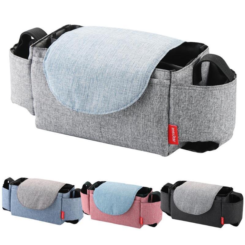 حقيبة عربة متعددة الوظائف عربة طفل حقيبة معلقة حزمة التخزين أكياس زجاجة المحمولة #SW