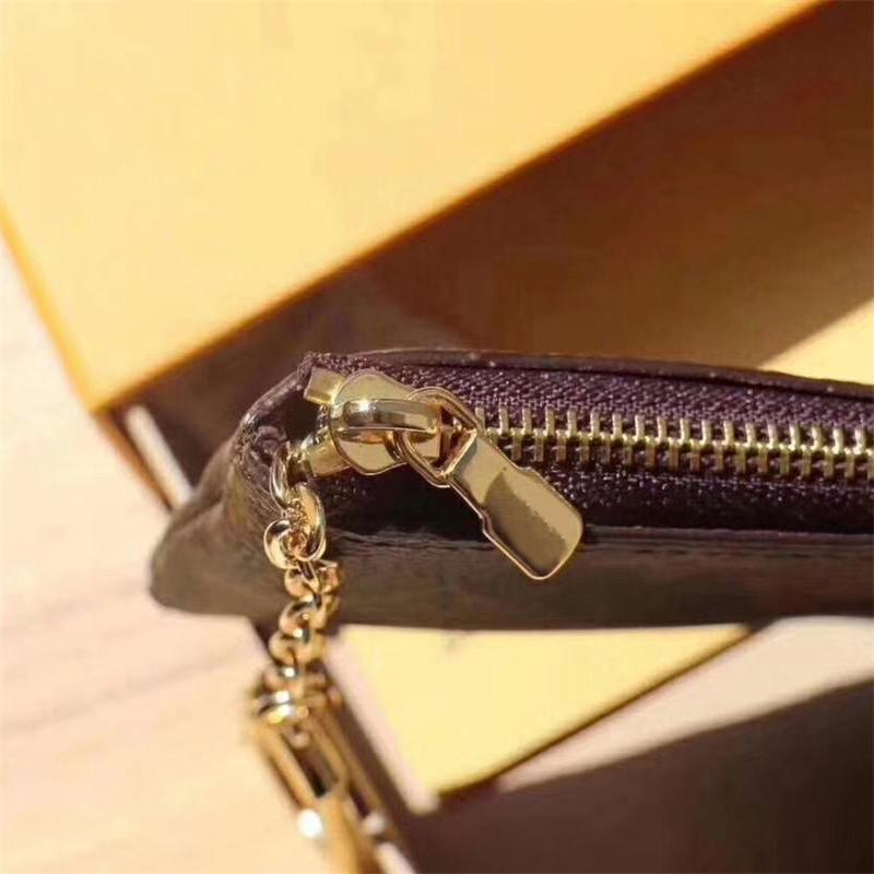 High quality Luxury design Portable KEY P0UCH wallet classic Man/women Coin Purse Chain bag With dust bag and box