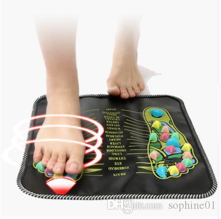 Горячая распродажа иглоукалывание булыжник красочные ноги рефлексология прогулка камень квадратный массажер для ног подушка для расслабляющего тела