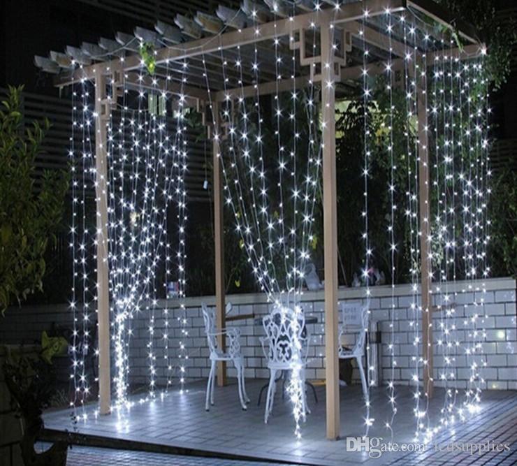 6M * 3M 600LED занавес светильника рождественские вечеринки свадьба праздник украшения огни AC110V-220V