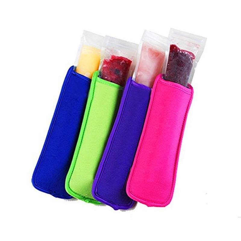 12 Renkler Neopren BUZ Kollu Yaz Mutfak Aletleri Tekrar Kullanılabilir donma Popsicle Çanta Dondurucu Sahipleri Çocuk Anti-soğuk Buz Kapaklar AC1119