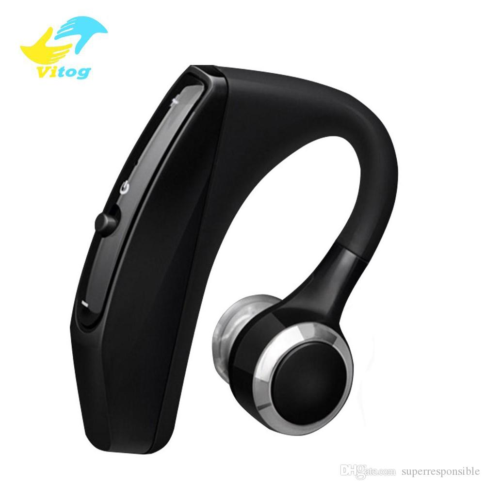 Vitog Bluetooth Headset V12 Wireless Business Handsfree Office Earphones Headphones With Mic Voice Control Noise Cancelling With Package Bluetooth Headphones For Cell Phones Headsets For Cell Phones From Superresponsible 8 16 Dhgate Com