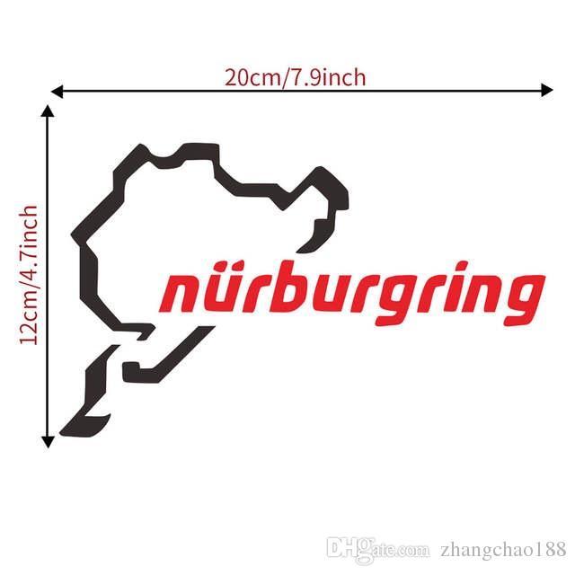 Die Rennstrecke Nürburgring Aufkleber lustige Fenster Auto Aufkleber ILLEST Zeichen Vinyl Dropship CA-598