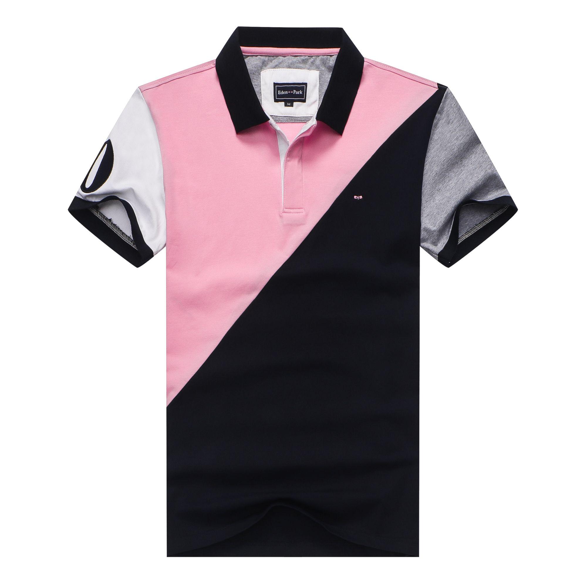 Эден парк к 2020 году новых хлопок Франция бренд дизайнер мужской роскоши рубашка поло мужская рубашка поло с коротким рукавом повседневная включите воротник большой размер 3XL