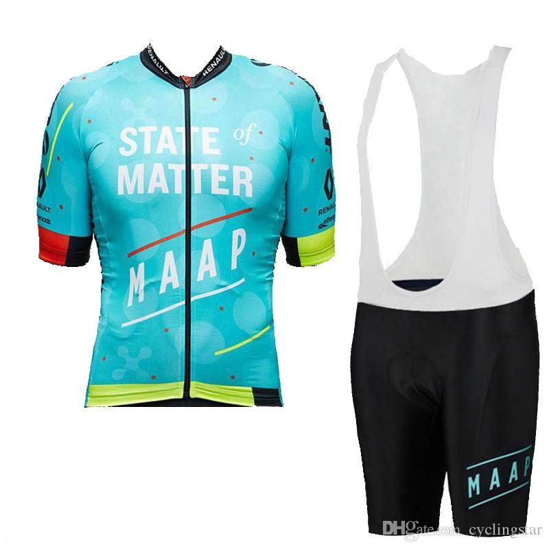 Equipo MAAP de verano que completa el equipo de ciclismo de los hombres en bicicleta Ropa de bicicleta Ropa Ciclismo maillot ciclismo hombre de secado rápido en bicicleta uniforme deportivo Y050901