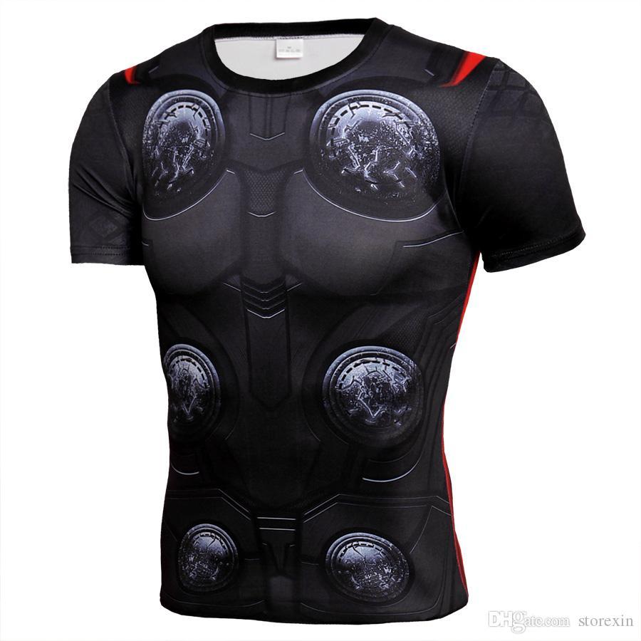2019 детектор Спорт человек фитнес мужская рубашка Crossfit футболка работает дышащий быстросохнущие стрейч топы футболка прохладный тренажерный зал одежда
