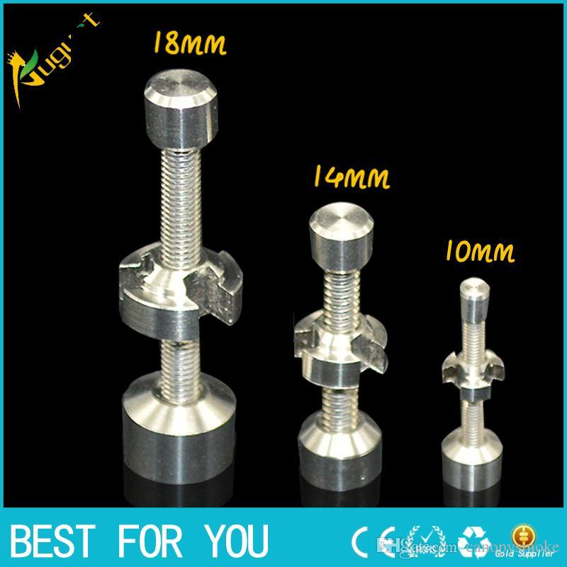 Titanium Nail 14mm 18mm smoking metal pipe click n vape for Incense Globe Dab Oil Rig