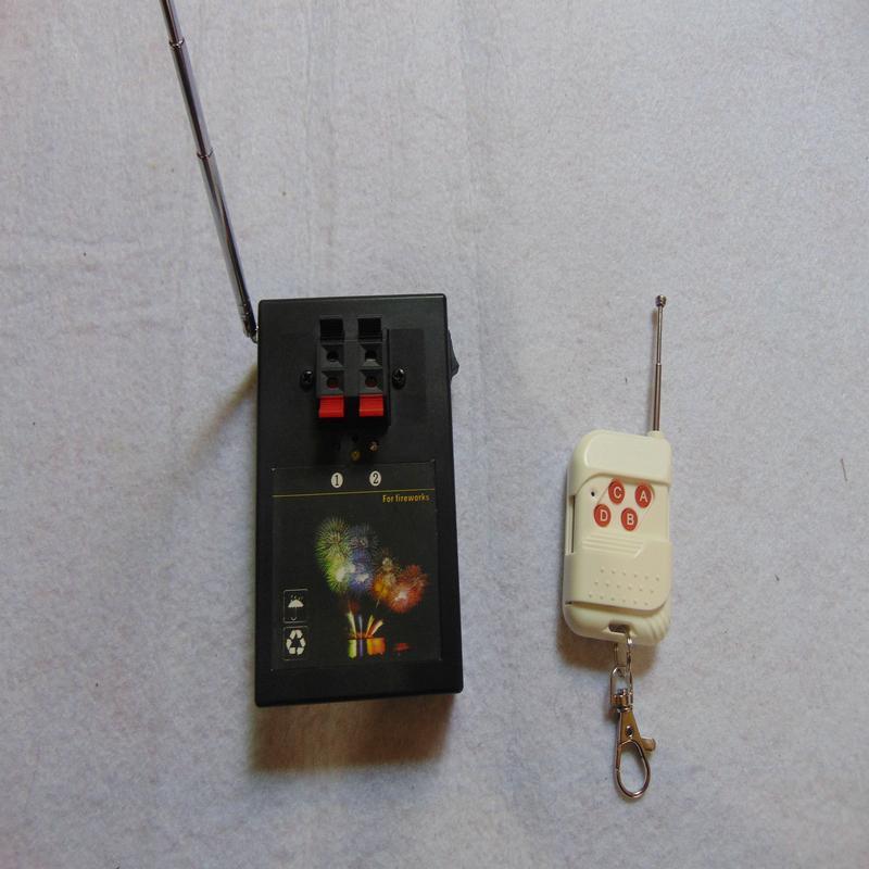 2 Cues Sender schalten connect Draht Weihnachtsgeschenk Partei wasserdicht Controller elektrische Leitung Feuerwerk Feuerung Kupferdraht Zubehör