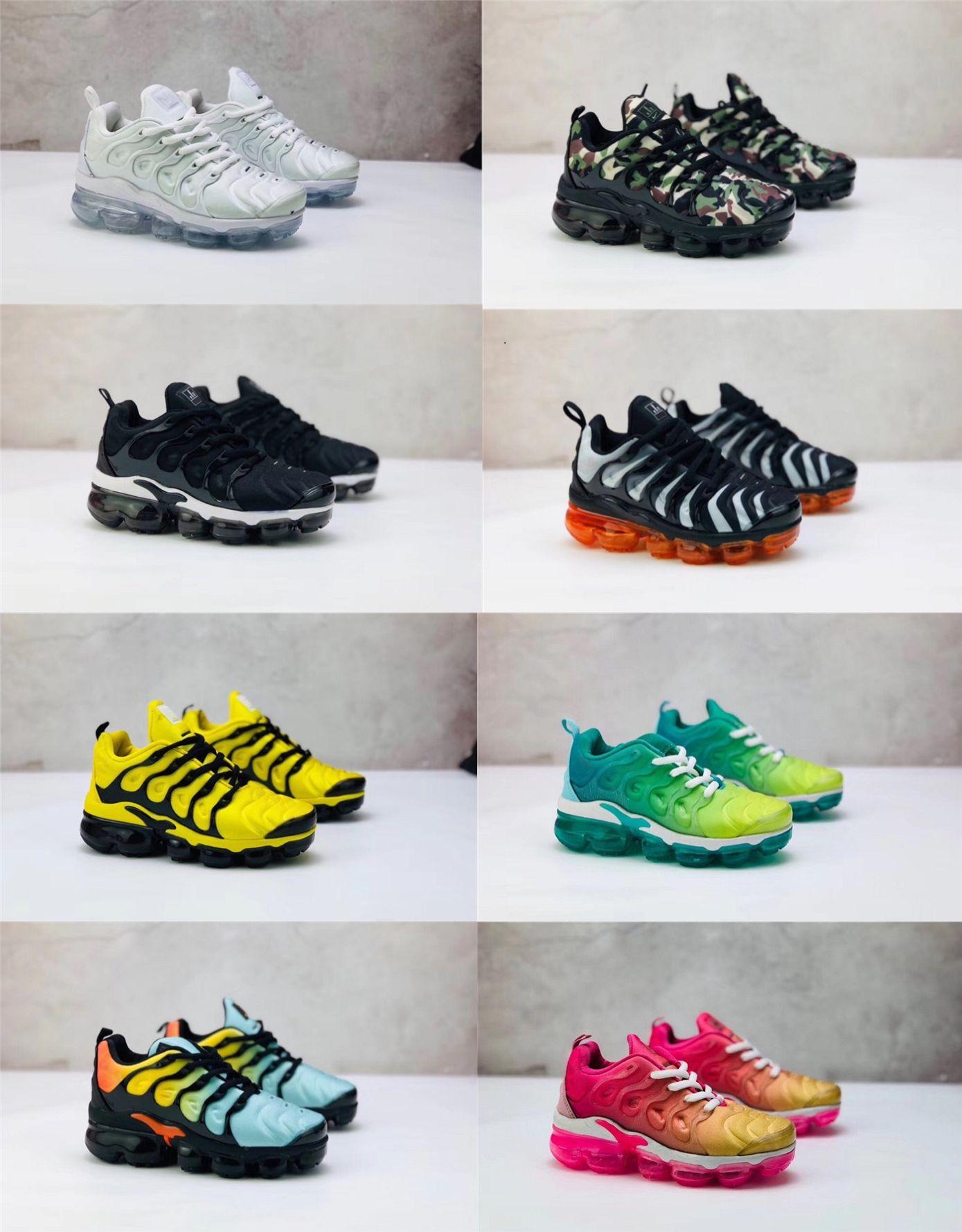2019 a buon mercato nuovo TN Plus scarpe da corsa per ragazze ragazze per bambini formatori TN Sneakers Black Red White Toddler scarpe da bambino 24-35