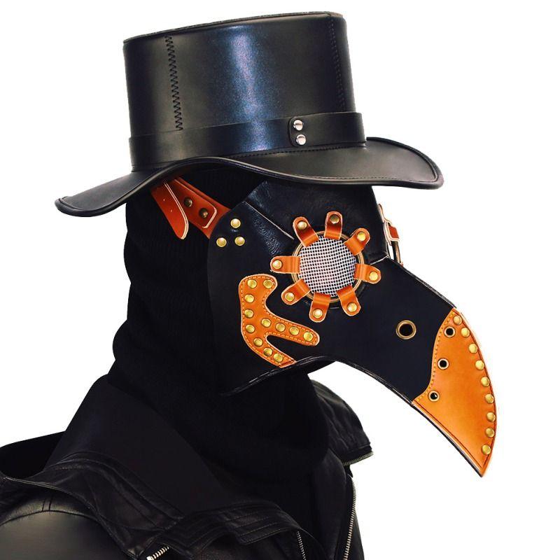 1PC Medico della Peste mascherina del partito di Halloween Becco naso lungo operato da Cosplay maschera di pelle becco Maschera MovieTheme puntelli di alta qualità anche per dancemasks