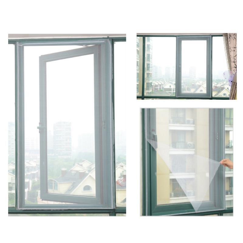 2019 3 Pz coperta tende zanzariera volare finestra zanzariera schermo della finestra pellicola protettiva schermo volante incorporato
