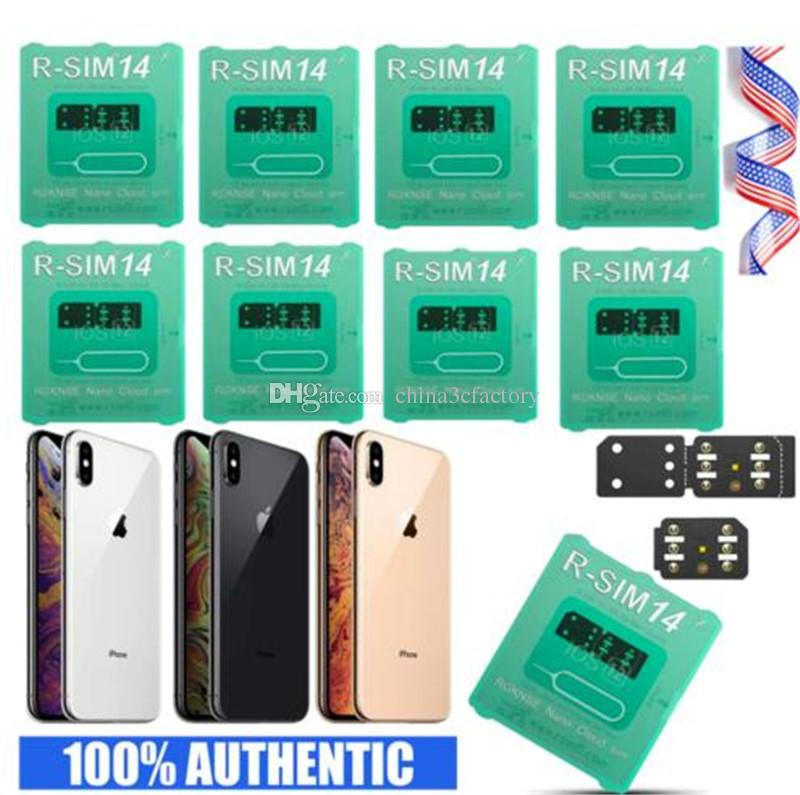 new RSIM14 RSIM 14 unlocking card for iphone compatible with ALL IOS and model DHL Shipping