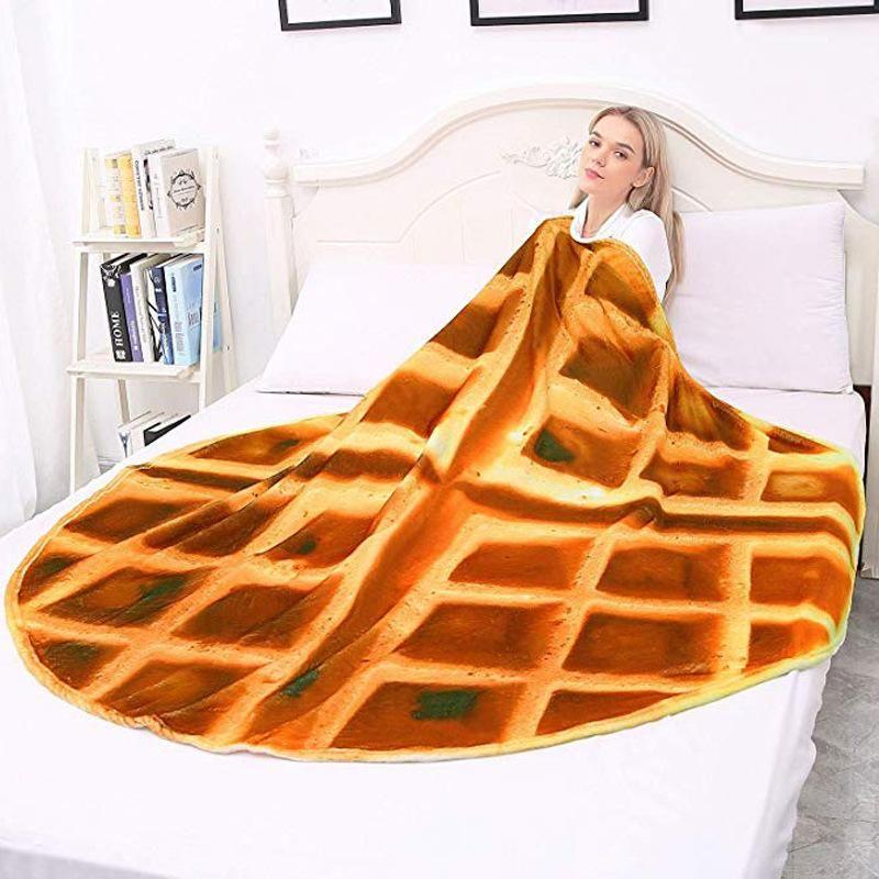 50Home textiles Manta acabado Confort creaciones Waffles Wrap Manta Perfectamente tiro pizza redonda