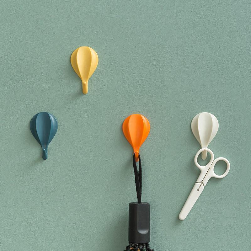 8 шт Hot Air Balloon Вешалка Крюк Многофункциональный ванной Аксессуары для кухни Декоративные вешалки Твердая крюк стойки Настенные крючки