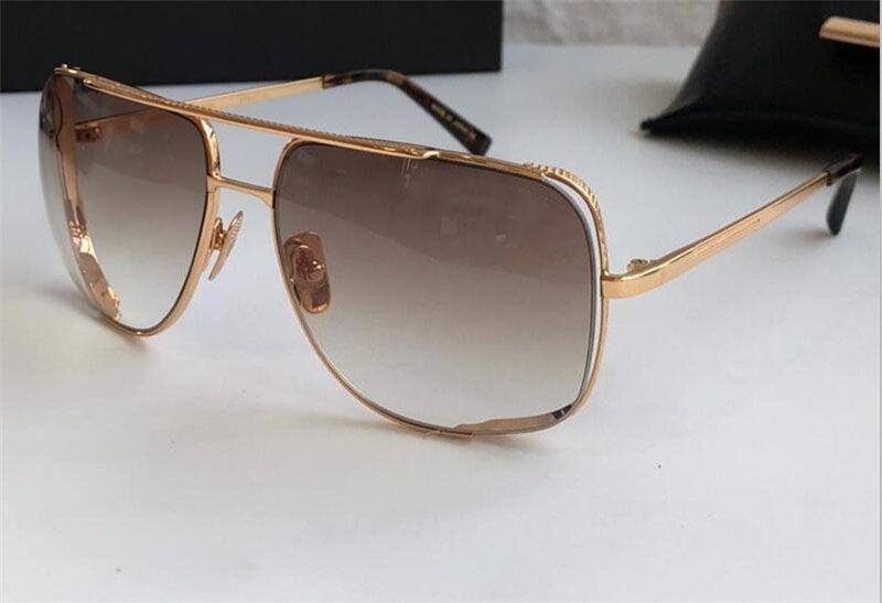 Occhiali da sole Design Design in metallo vintage occhiali stile moda stile quadrato telaio UV 400 lente con custodia originale