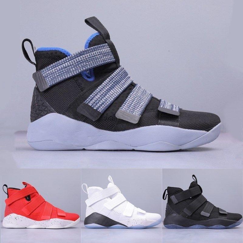 2019 11 7 12 Top qualité New Soldier Xi Navy Blue Men Drop Shipping célèbre Mens Basketball Sizeoutdoor Chaussures
