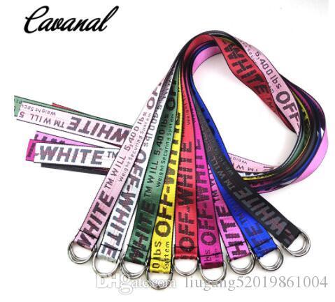 2020 150cm de calidad superior de amarillo blanco cinturones bordado lienzo carta hombres 100cm-200cm largo Femal cinturón para las mujeres de lujo diseñador marca cinturones