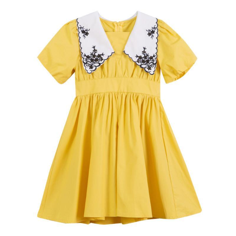 Niñas vestidos de partido de 10-12 años de edad princesa vestidos de verano de 2020 nuevos niños del estilo del oeste 8