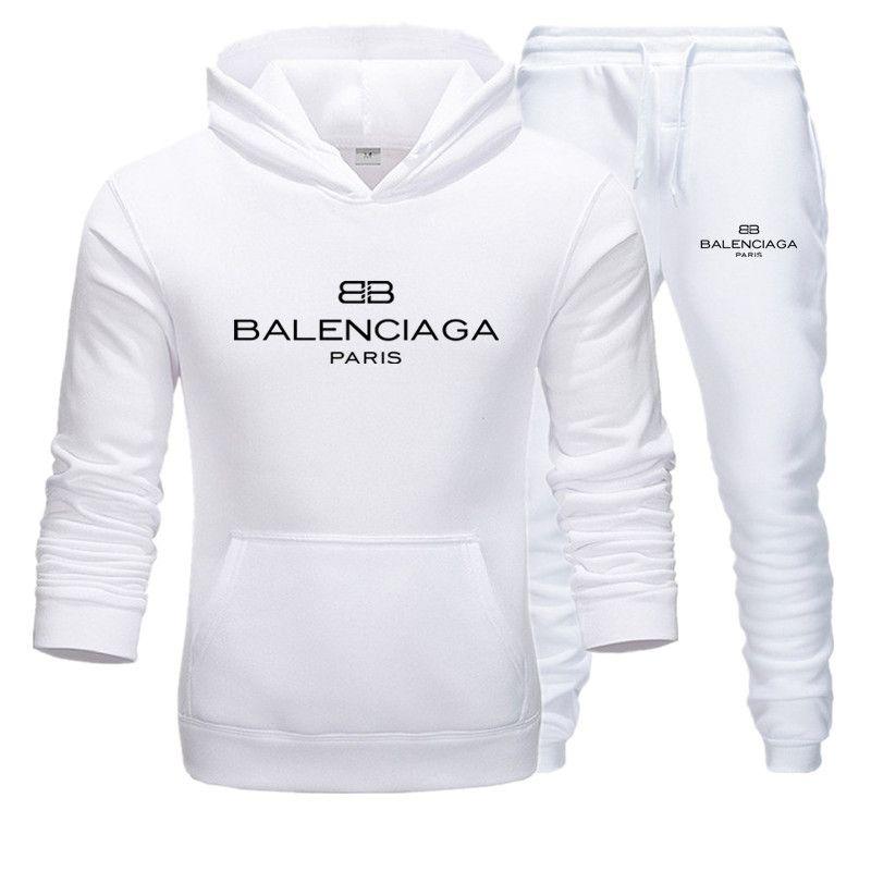 2020 Anzug Männer Set Brief Sport Sweatsuit Male Sweat Trainingsanzug Jacke Hoodie mit Hose Herren Sportanzüge Plus-Si