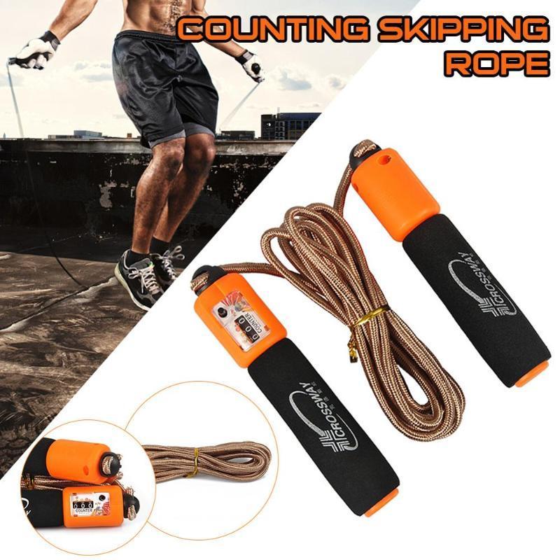 1PC salto Corde per il Salto professionale Spugna Skipping aerobica fitness velocità regolabile conteggio casa attrezzature per il fitness
