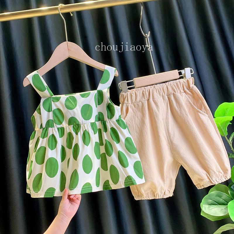 الأزياء طفلة مجموعة ربيع وصيف 2020 ملابس أطفال بنات 2 قطعة تتسابق T قميص + تنورة ملابس الأطفال تنورة وبنطلون البدلة