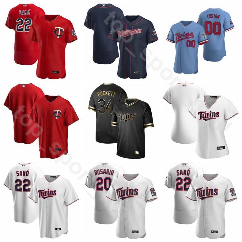 2020 beyzbol 8 Mitch Garver Jersey 18 Kenta Maeda 25 Byron Buxton 15 Homer Bailey 54 Sergio Romo Flexbase baz çizgili soğutun