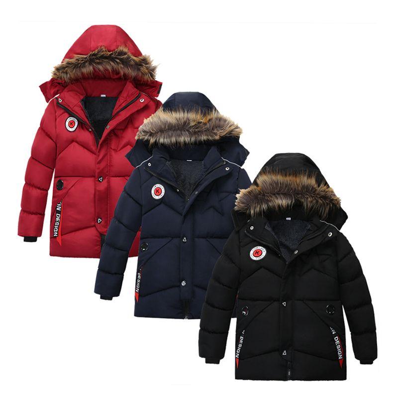 3-8년 미만 어린이 보이의 따뜻한 코트 키즈 코트 2020 NEW 아기 겉옷 자식들을 겨울 재킷 아기 의류 다운 자켓