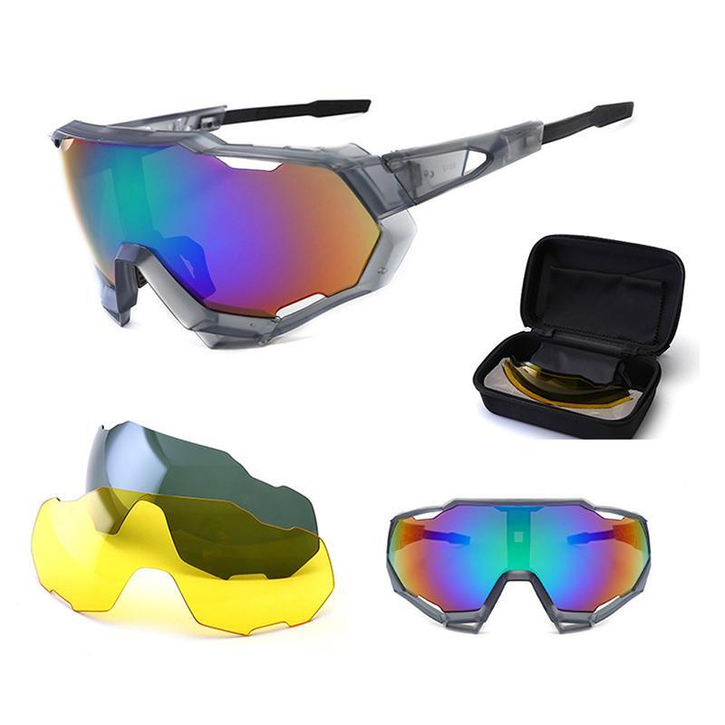 2020 Новые мужские Велоспорт очки костюм велосипед поляризованные очки на открытом воздухе велосипед очки Материал PC Pro Безопасность Велоспорт очки ночного видения