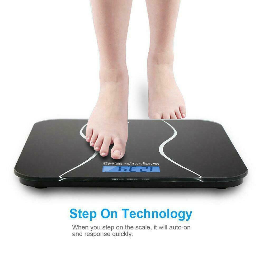 شاشات الكريستال السائل الرقمية الالكترونية زجاج الشخصية حمام وزن الجسم مقياس وزن 396 LB