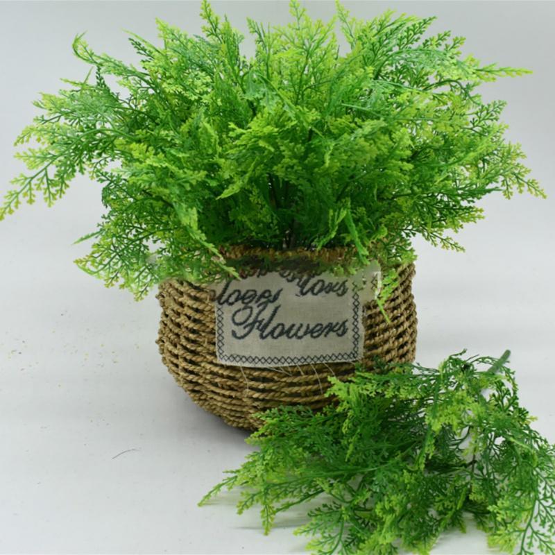 Plantas artificiales Hojas de helecho Plantas falsas de colores vivos para el hogar Decoración de la fiesta de bodas Accesorios Decoración de la habitación