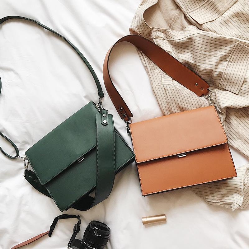 Большие продажи 2019 сумки женщина моды простой коммутирует портфель лето новой небольшое квадратного мешка дикого плечо сумка многофункциональной