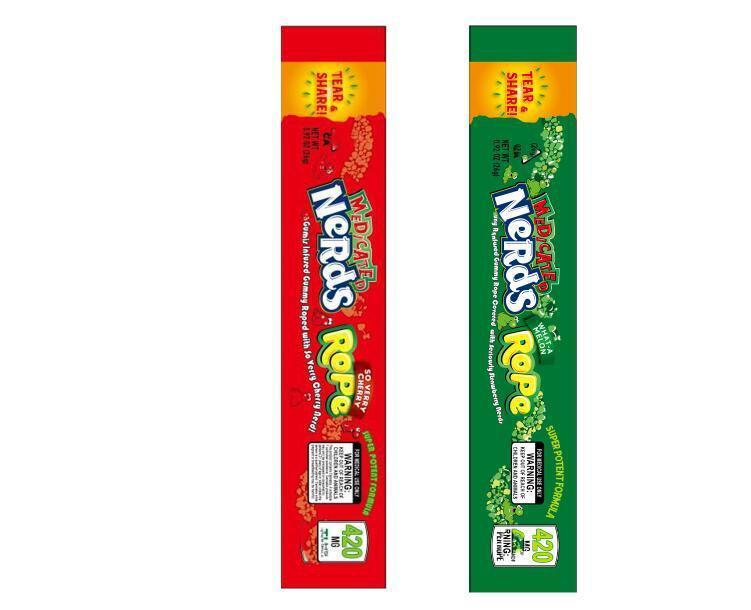 Yeni 420mg Medicated İnekler Halat NE-kavun, SO ÇOK KİRAZ İnekler Halat torba Ambalaj torbası İnekler Halat şeker Nerdsrope sakızlı torba